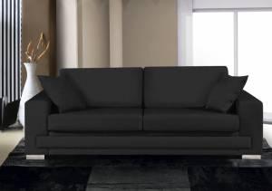 Καναπές Τριθέσιος-230φ 90β εκ.-Μαύρο