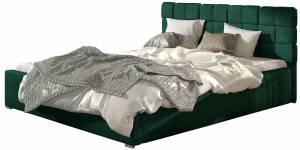 Επενδυμένο κρεβάτι 140 x 200-Χωρίς μηχανισμό ανύψωσης-Prasino