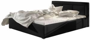 Επενδυμένο κρεβάτι Mauro-160 x 200-Χωρίς μηχανισμό ανύψωσης