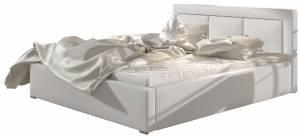Επενδυμένο κρεβάτι Leuko-140 x 200-Χωρίς μηχανισμό ανύψωσης
