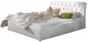 Επενδυμένο κρεβάτι Leuko-Με μηχανισμό ανύψωσης-140 x 200