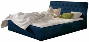 Επενδυμένο κρεβάτι Mple-Χωρίς μηχανισμό ανύψωσης-140 x 200