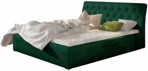 Επενδυμένο κρεβάτι Prasino-Χωρίς μηχανισμό ανύψωσης-180 x 200