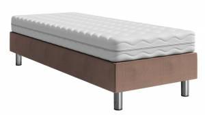 Επενδυμένο κρεβάτι Kafe Skouro-200 x 80 x 30
