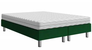 Επενδυμένο κρεβάτι Prasino-200 x 160 x 30