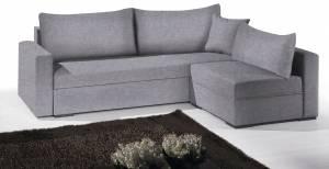 Γωνιακός καναπές -215φ 160β-Γκρι Χρώμιο