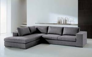 Γωνιακός καναπές Δεξιά-260φ 200β-Γκρι-Χρώμιο