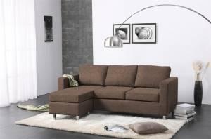 Γωνιακός καναπές 180 x 120-Σοκολατί