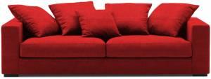 Καναπές Διθέσιος-140φ 90β εκ.-Κόκκινο