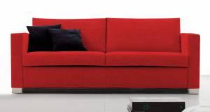 Καναπές Τριθέσιος-185φ 90β εκ-Κόκκινο