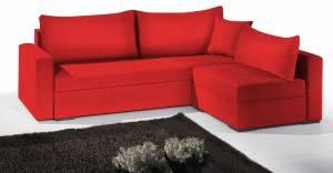 Γωνιακός καναπές -195φ 140β-Κόκκινο