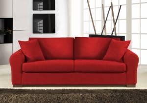 Καναπές Διθέσιος-145φ 90β εκ.-Κόκκινο