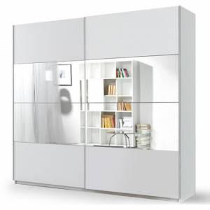 Ντουλάπα Συρόμενη 180 x 61 x 210 εκ.-Λευκό