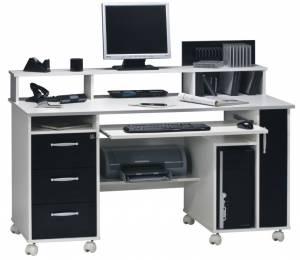 Γραφείο -Λευκό - Μαύρο