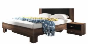 Κρεβάτι με 2 κομοδίνα -180x200-Καρυδί Σκούρο