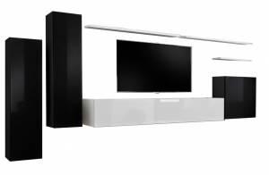 Σύνθετο σαλονιού -Μαύρο - Λευκό