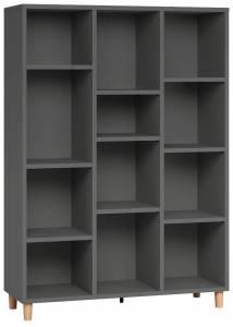 Βιβλιοθήκη χαμηλή-Γκρι