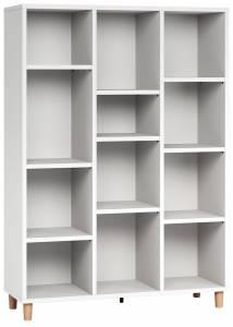 Βιβλιοθήκη χαμηλή-Λευκό