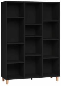 Βιβλιοθήκη χαμηλή-Μαύρο