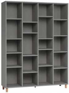 Βιβλιοθήκη 4x5-Γκρι