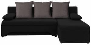 Γωνιακός καναπές - Μαύρο