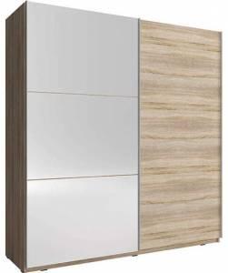 Ντουλάπα συρόμενη Michaela-150 x 63 x 214 εκ.-Φυσικό