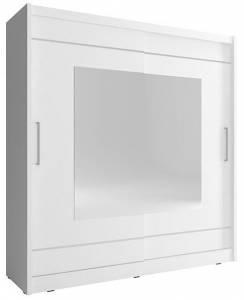 Ντουλάπα συρόμενη-180 x 62 x 200 εκ.-Λευκό