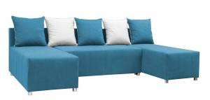 Γωνιακός καναπές -Γαλάζιο