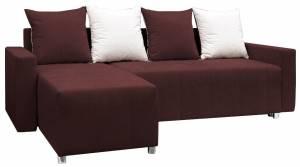 Γωνιακός καναπές -Καφέ σκούρο