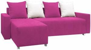 Γωνιακός καναπές -Ροζ
