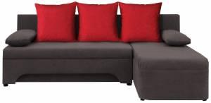 Γωνιακός καναπές -Γκρι - Κόκκινο