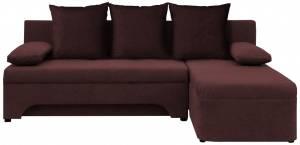 Γωνιακός καναπές -Καφέ
