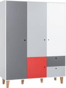Τρίφυλλη ντουλάπα -Κόκκινο