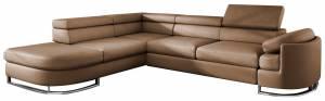 Γωνιακός καναπές -Αριστερή-Μπεζ