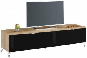 Βάση τηλεόρασης -Φυσικό - Μαύρο Γυαλιστερό