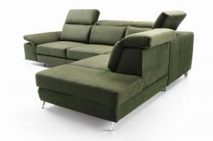 Γωνιακός καναπές -Αριστερή-Prasino