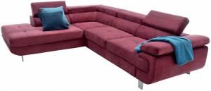 Γωνιακός καναπές -Δεξιά-Μπορντώ