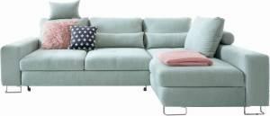 Γωνιακός καναπές -Αριστερή-Φυστικί