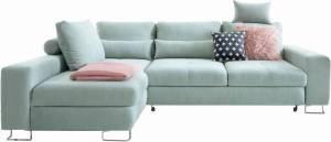 Γωνιακός καναπές -Δεξιά-Φυστικί