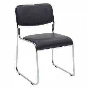 Καρέκλα επισκέπτη με PVC χρώμα μαύρο