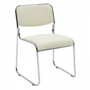 Καρέκλα επισκέπτη με PVC χρώμα εκρού