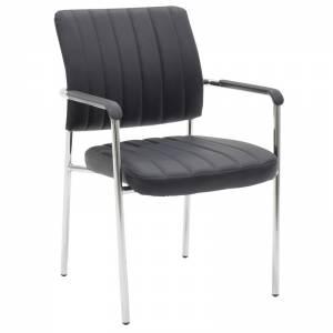 Καρέκλα γραφείου επισκέπτη με pu χρώμα μαύρο