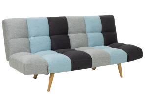 Καναπές - κρεβάτι 3θέσιος με ύφασμα πολύχρωμο 182x81x84εκ