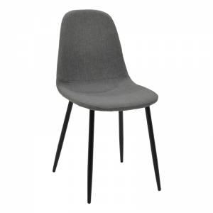 Καρέκλα μεταλλική μαύρη με ύφασμα ανθρακί