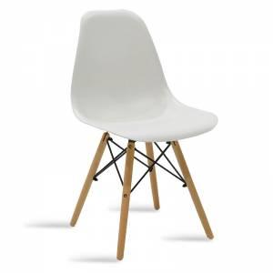 Καρέκλα PP χρώμα λευκό - φυσικό