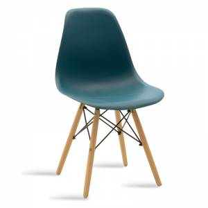 Καρέκλα PP χρώμα σκούρο μπλε - φυσικό