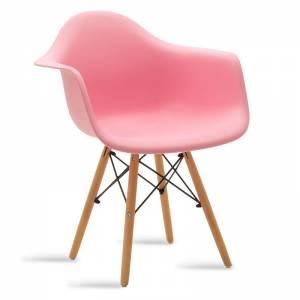 Πολυθρόνα πολυπροπυλενίου χρώμα ροζ - φυσικό