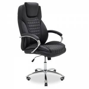 Καρέκλα γραφείου διευθυντή με PU χρώμα μαύρο