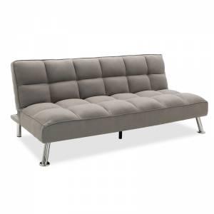 Καναπές-κρεβάτι 3θέσιος με ύφασμα γκρι 189x92x82εκ