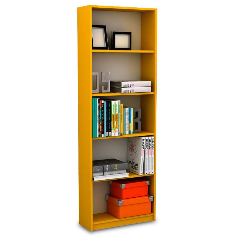 Βιβλιοθήκη σε κίτρινο χρώμα 58x23x170εκ